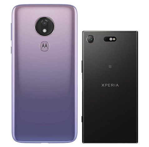 Moto G7 Power vs Xperia XZ1 Compact. View of main cameras