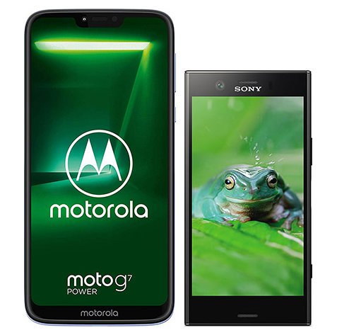 Smartphone Comparison: Motorola moto g7 power vs Sony xperia xz1 compact