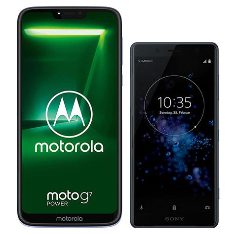Smartphone Comparison: Motorola moto g7 power vs Sony xperia xz2 compact