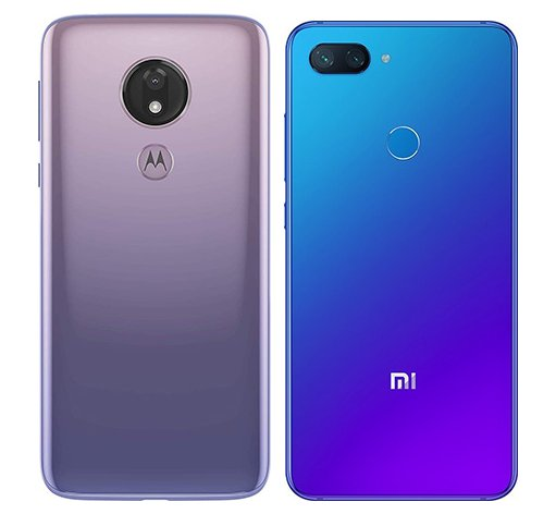 Moto G7 Power vs Mi 8 Lite. View of main cameras