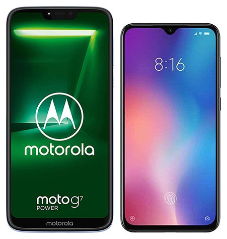 Smartphone Comparison: Motorola moto g7 power vs Xiaomi mi 9 se