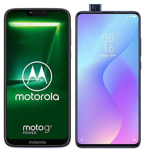 Smartphone Comparison: Motorola moto g7 power vs Xiaomi mi 9t