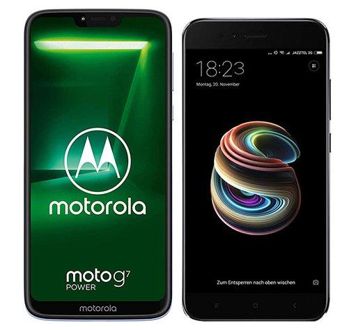 Smartphone Comparison: Motorola moto g7 power vs Xiaomi mi a1