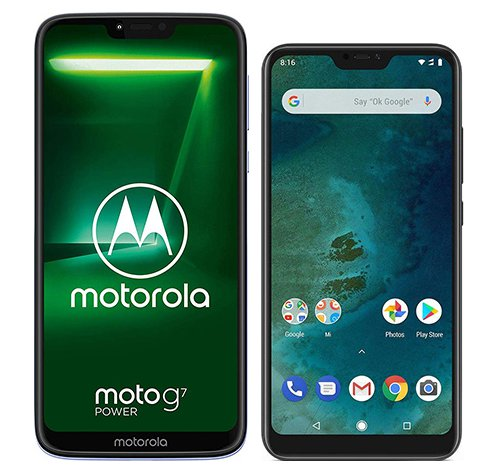 Smartphone Comparison: Motorola moto g7 power vs Xiaomi mi a2 lite