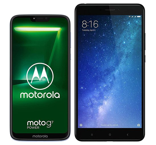Smartphone Comparison: Motorola moto g7 power vs Xiaomi mi max 2