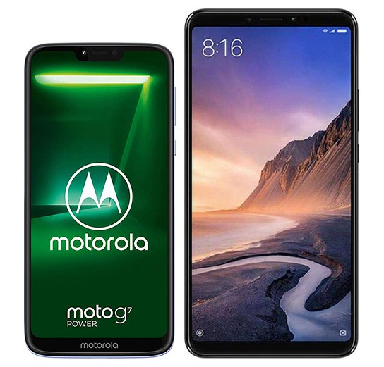 Smartphone Comparison: Motorola moto g7 power vs Xiaomi mi max 3
