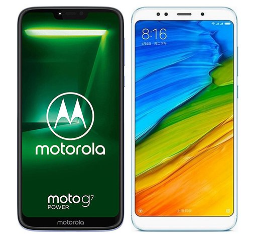 Smartphone Comparison: Motorola moto g7 power vs Xiaomi redmi 5 plus