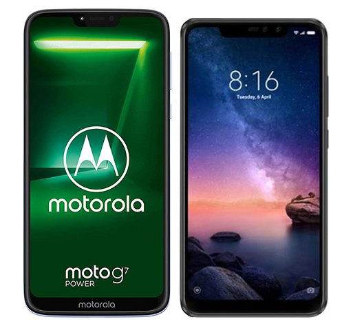 Smartphone Comparison: Motorola moto g7 power vs Xiaomi redmi note 6 pro