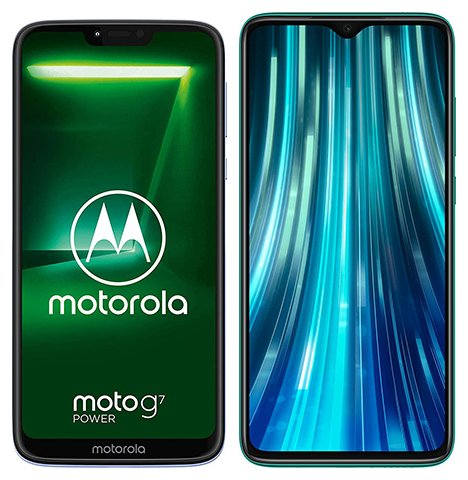 Smartphone Comparison: Motorola moto g7 power vs Xiaomi redmi note 8 pro