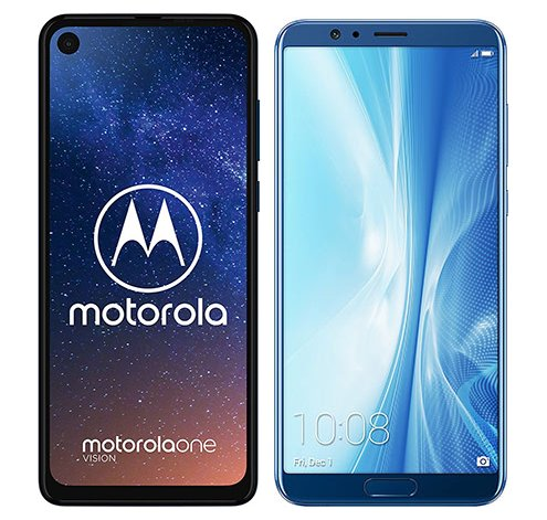 Smartphonevergleich: Motorola one vision oder Honor view 10
