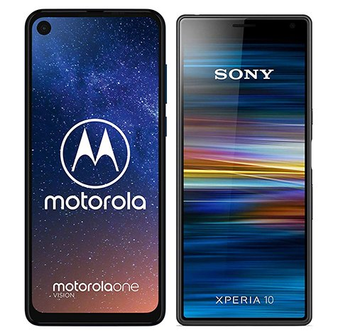 Smartphonevergleich: Motorola one vision oder Sony xperia 10