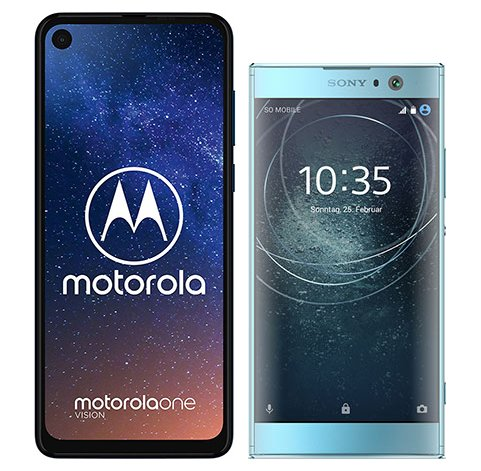 Smartphonevergleich: Motorola one vision oder Sony xperia xa2