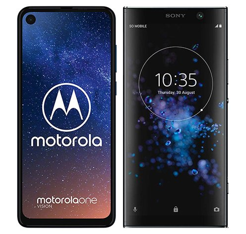 Smartphonevergleich: Motorola one vision oder Sony xperia xa2 plus
