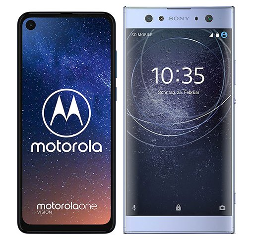 Smartphonevergleich: Motorola one vision oder Sony xperia xa2 ultra