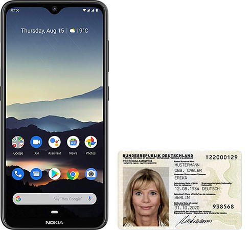 Nokia 7.2 size comparison