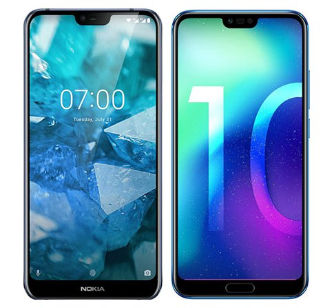 Smartphone Comparison: Nokia 7 1 vs Honor 10