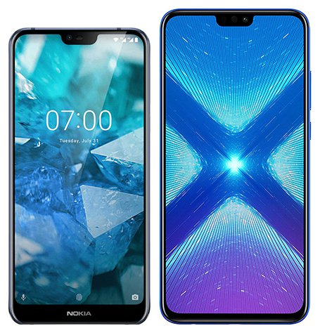 Smartphone Comparison: Nokia 7 1 vs Honor 8x
