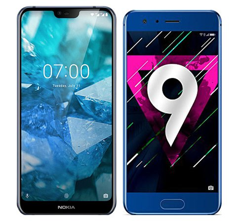 Smartphone Comparison: Nokia 7 1 vs Honor 9
