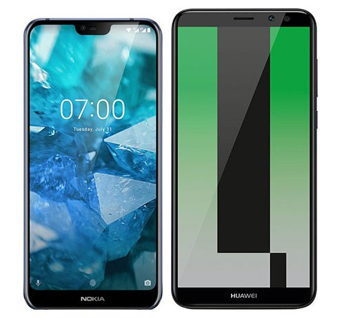Smartphone Comparison: Nokia 7 1 vs Huawei mate 10 lite