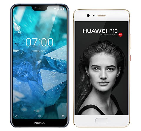 Smartphone Comparison: Nokia 7 1 vs Huawei p10