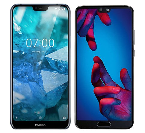 Smartphone Comparison: Nokia 7 1 vs Huawei p20