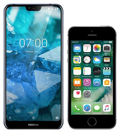 Smartphone Comparison: Nokia 7 1 vs Iphone se