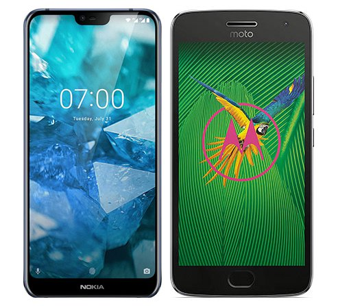 Smartphone Comparison: Nokia 7 1 vs Motorola moto g5 plus