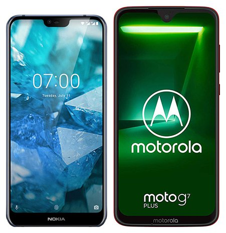 Smartphone Comparison: Nokia 7 1 vs Motorola moto g7 plus