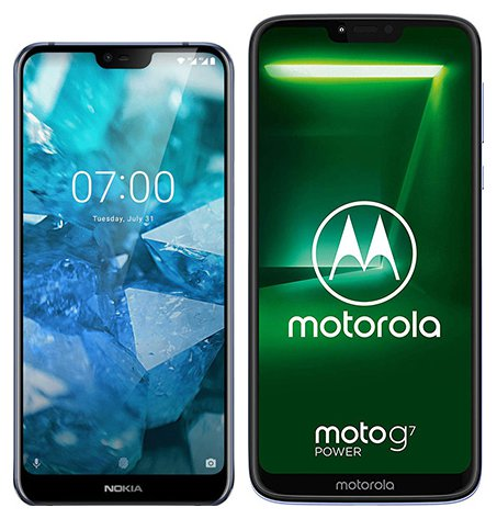 Smartphone Comparison: Nokia 7 1 vs Motorola moto g7 power