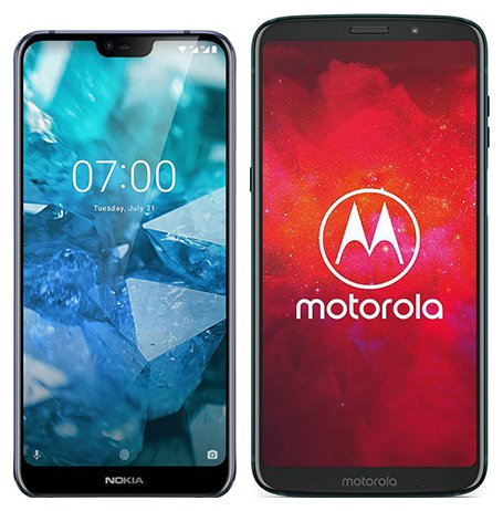 Smartphone Comparison: Nokia 7 1 vs Motorola moto z3 play