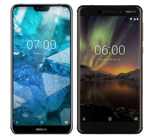Smartphone Comparison: Nokia 7 1 vs Nokia 6 1