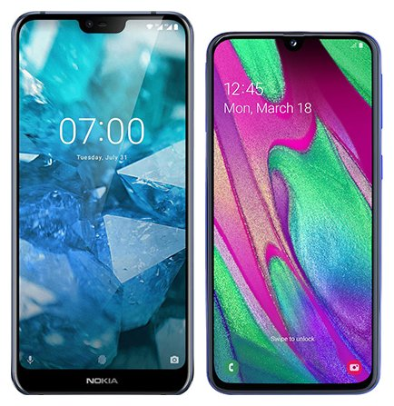 Smartphone Comparison: Nokia 7 1 vs Samsung galaxy a40