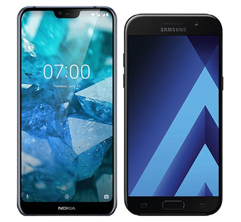 Smartphone Comparison: Nokia 7 1 vs Samsung galaxy a5 2017