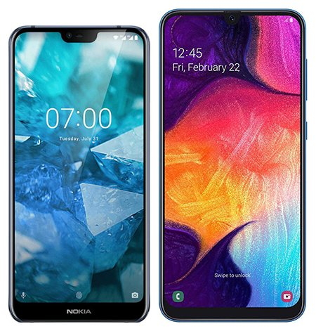 Smartphone Comparison: Nokia 7 1 vs Samsung galaxy a50