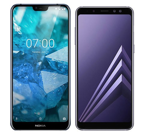 Smartphone Comparison: Nokia 7 1 vs Samsung galaxy a8