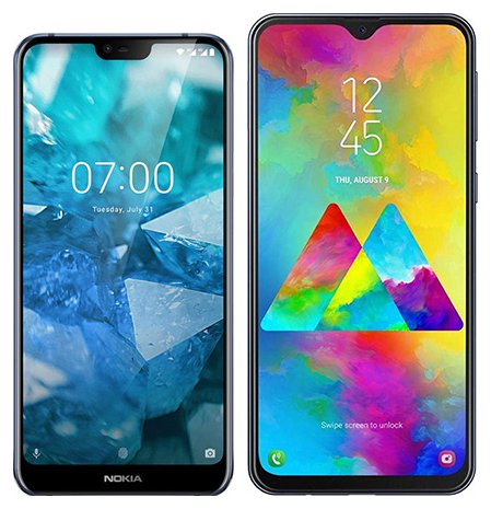 Smartphone Comparison: Nokia 7 1 vs Samsung galaxy m20