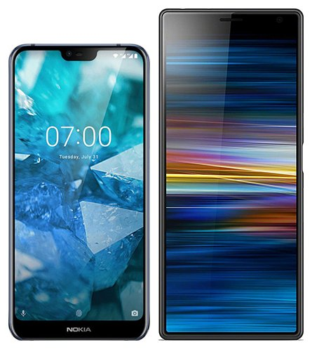 Smartphone Comparison: Nokia 7 1 vs Sony xperia 10 plus