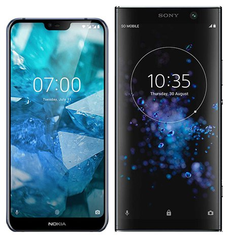 Smartphone Comparison: Nokia 7 1 vs Sony xperia xa2 plus