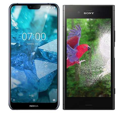 Smartphone Comparison: Nokia 7 1 vs Sony xperia xz1