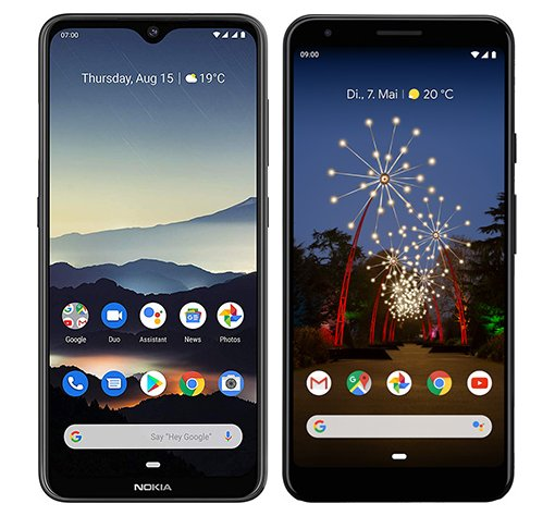 Smartphone Comparison: Nokia 7 2 vs Google pixel 3a xl