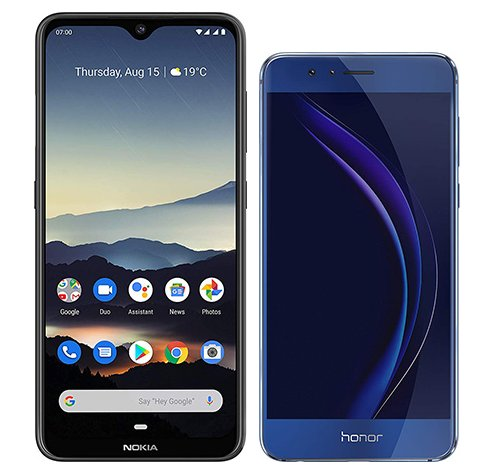 Smartphone Comparison: Nokia 7 2 vs Honor 8