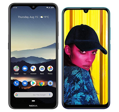 Smartphone Comparison: Nokia 7 2 vs Huawei p smart 2019