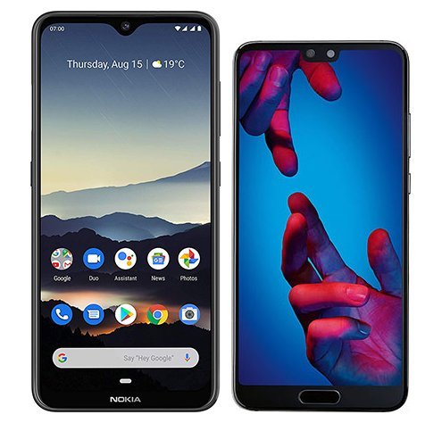 Smartphone Comparison: Nokia 7 2 vs Huawei p20