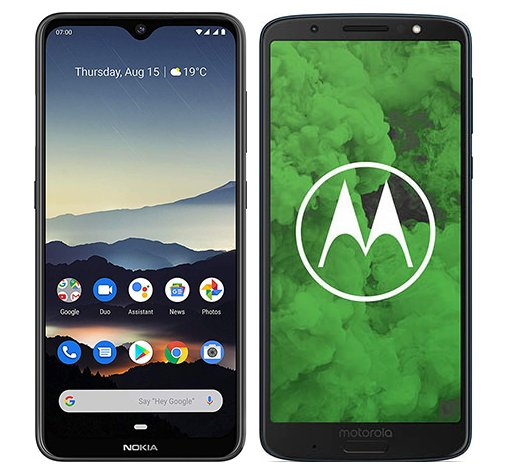 Smartphone Comparison: Nokia 7 2 vs Motorola moto g6 plus