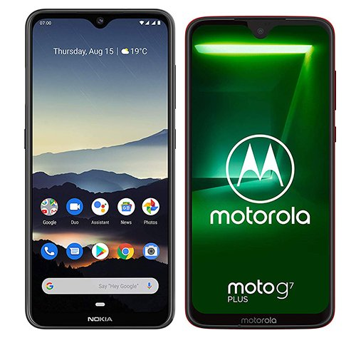 Smartphone Comparison: Nokia 7 2 vs Motorola moto g7 plus