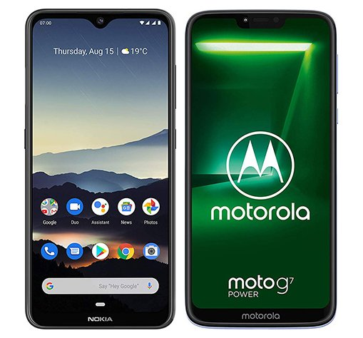 Smartphone Comparison: Nokia 7 2 vs Motorola moto g7 power