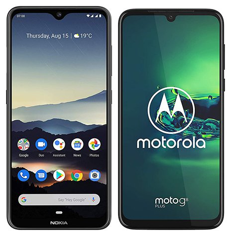 Smartphone Comparison: Nokia 7 2 vs Motorola moto g8 plus