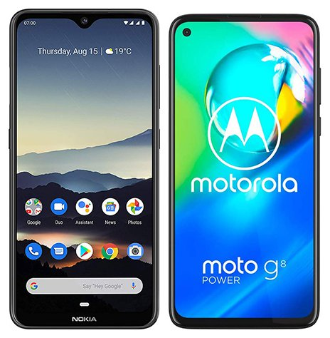 Smartphone Comparison: Nokia 7 2 vs Motorola moto g8 power
