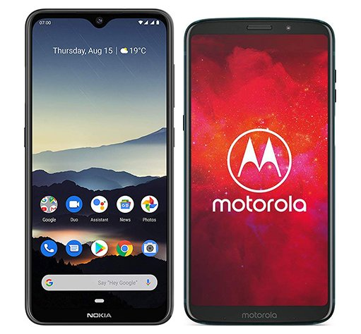 Smartphone Comparison: Nokia 7 2 vs Motorola moto z3 play