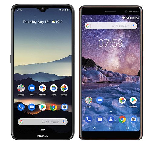 Smartphone Comparison: Nokia 7 2 vs Nokia 7 plus